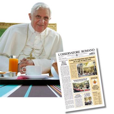 Benedicto XVI,osservatore romano