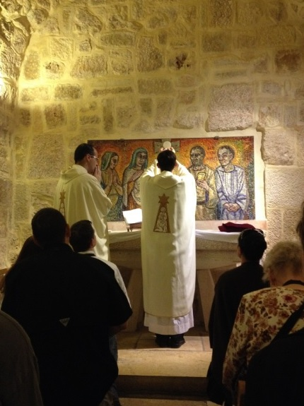 Mass in the cave of St. Jerome