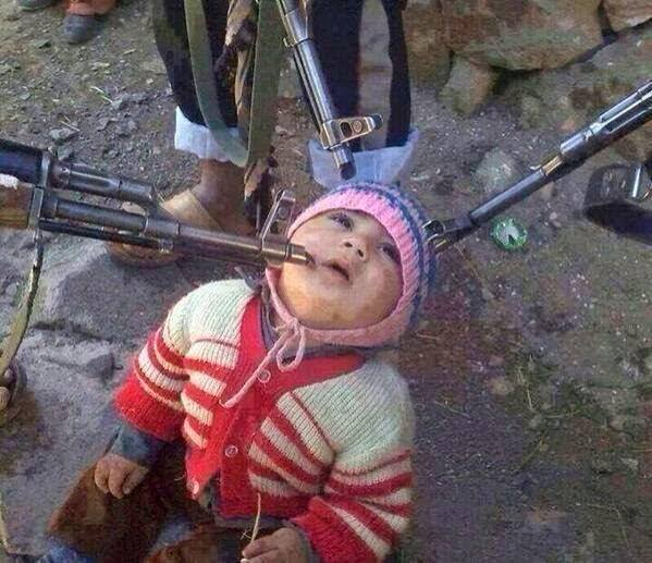 Haunting photo of Iraqi child