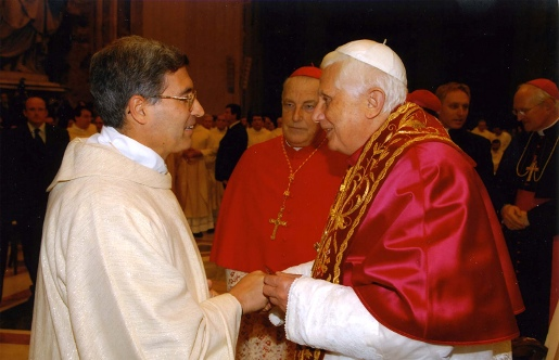 Fr. Barrajon and Pope Benedict