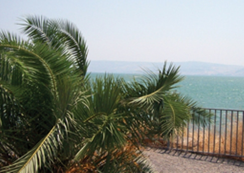 On the beach in Magdala