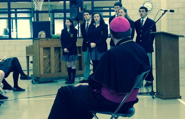 Bishop and EC singers