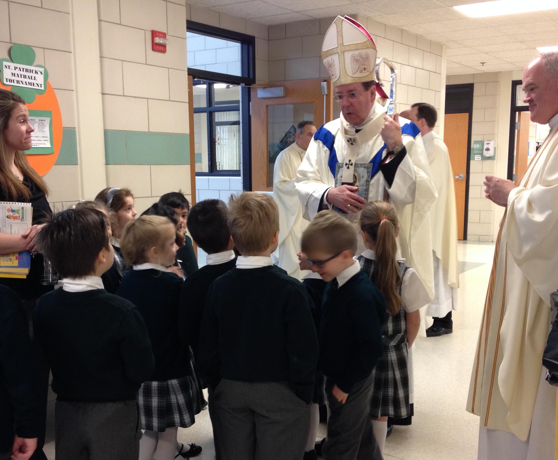 Archbishop blesses EA Kindergarteners