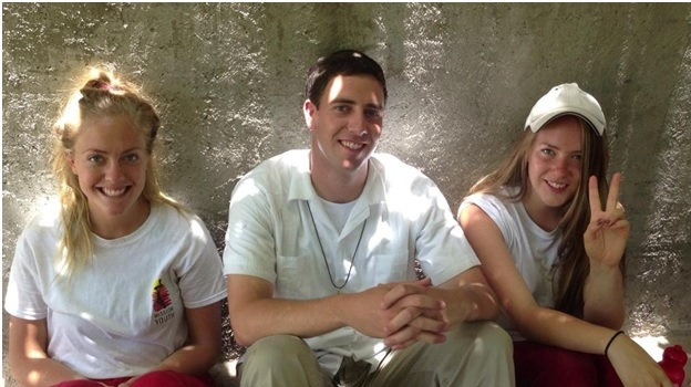 Br, Kramer Cameron with his sisters on Haiti mission