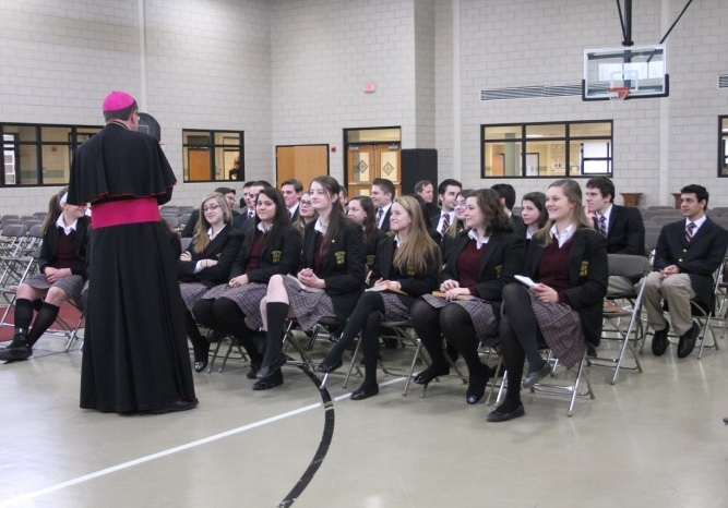 Archbishop Allen Vigneron at Everest Collegiate