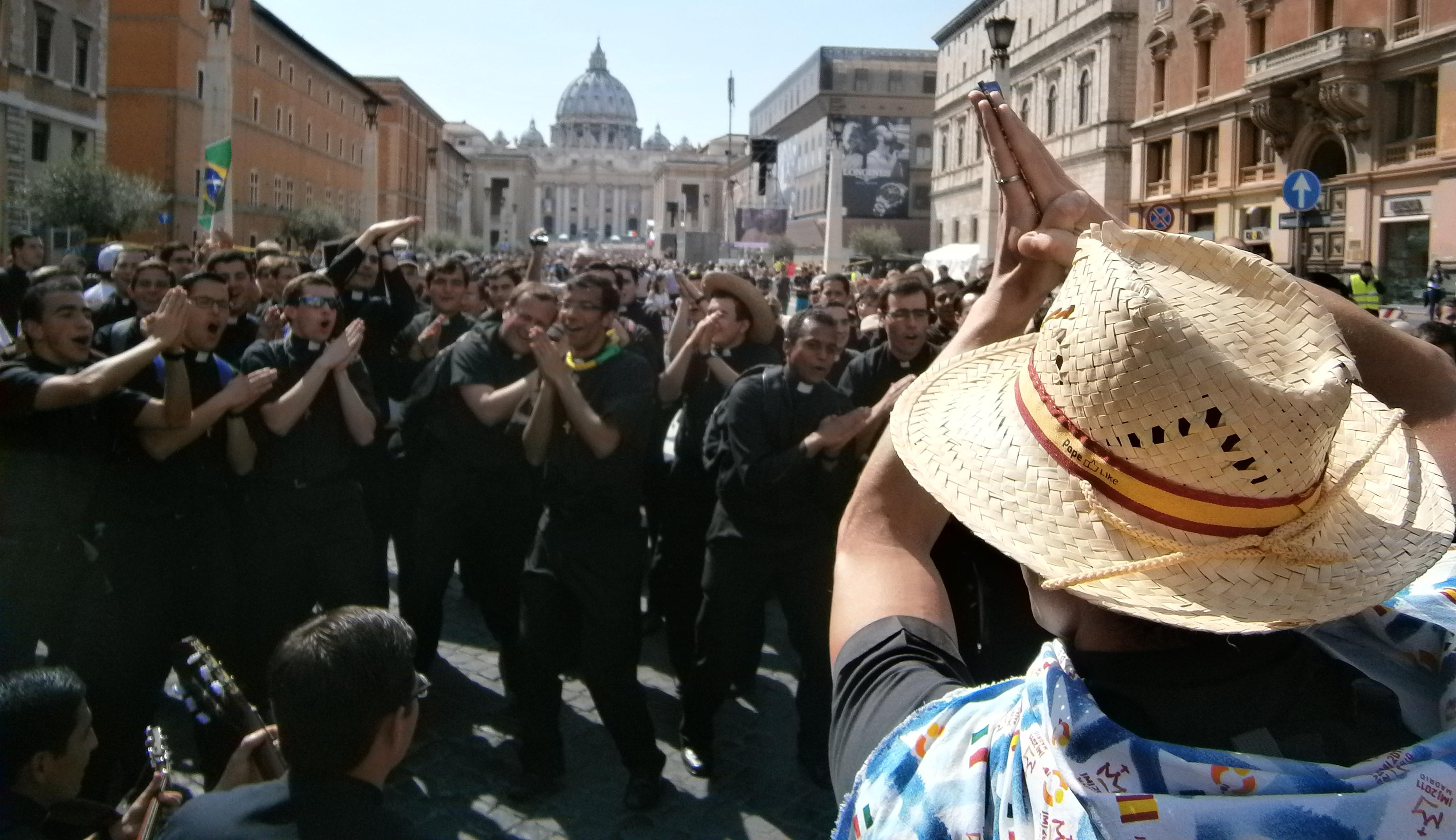 Dancing Legion of Christ seminarians