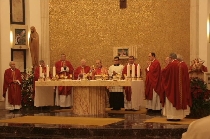 Cardinal Velasio DePaolis at the Consecration