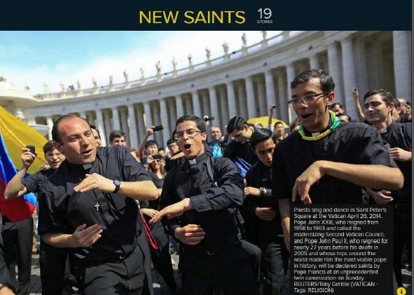 Dancing seminarians in the press