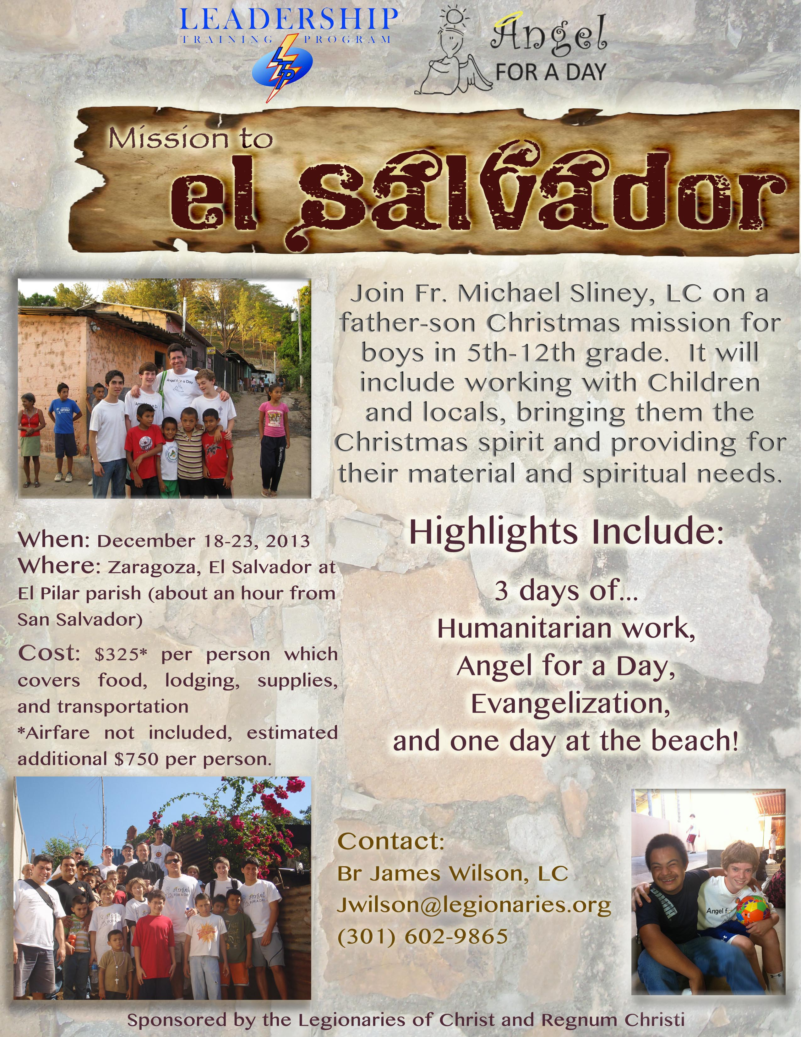 El Salvador mission information