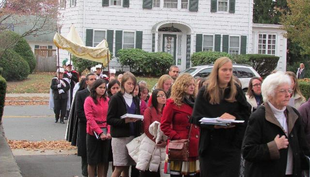 Eucharistic Procession in Rhode Island