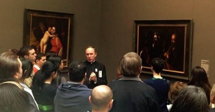 Fr. Jason Smith LC at the Metropolitan Museum of Art