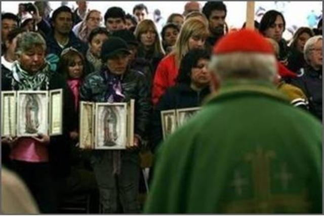 cardinal blesses triptychs