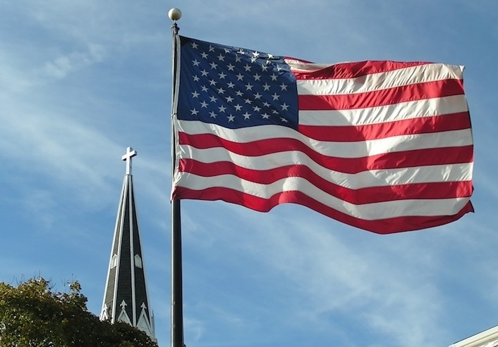 Flag and Steeple