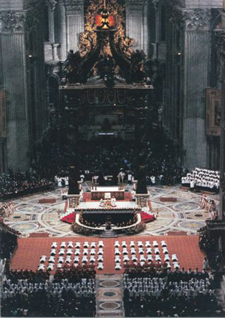 60 Legionaries of Christ receive their priestly ordination from Pope John Paul II in January 1991.
