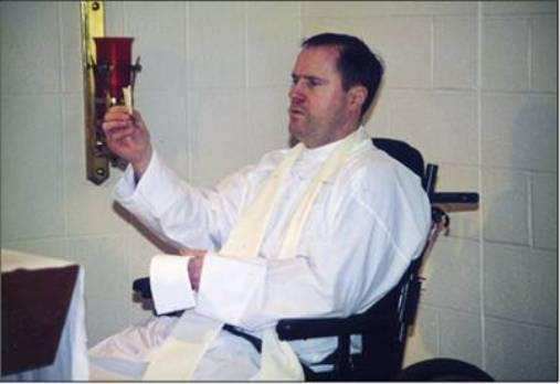 Fr. Gormley saying Mass