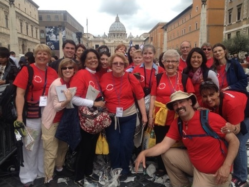 Rome pilgrimage group from Atlanta