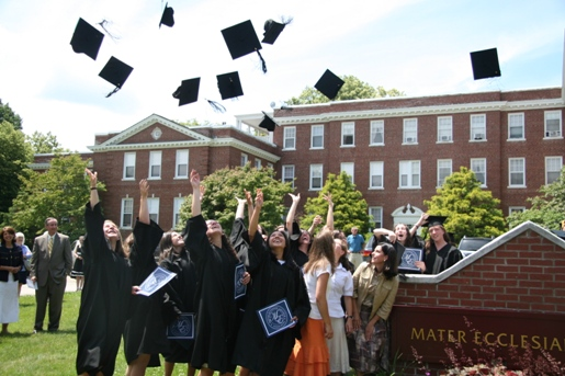 MEC Graduate Hat Toss