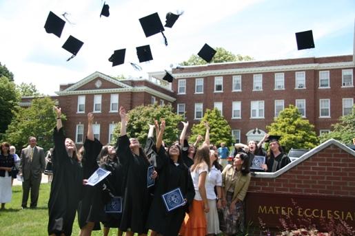 MEC Graduate Hat Toss