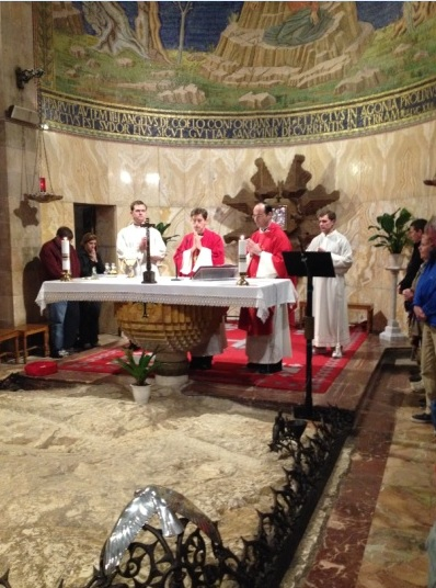 Mass at Gethsemane.