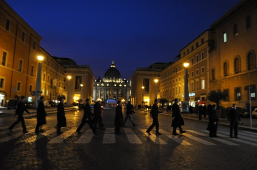 Seminarians in Rome