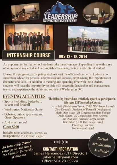 LTP Internship Flyer