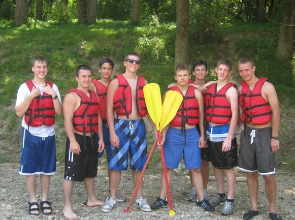 Canoers at Conquest camp