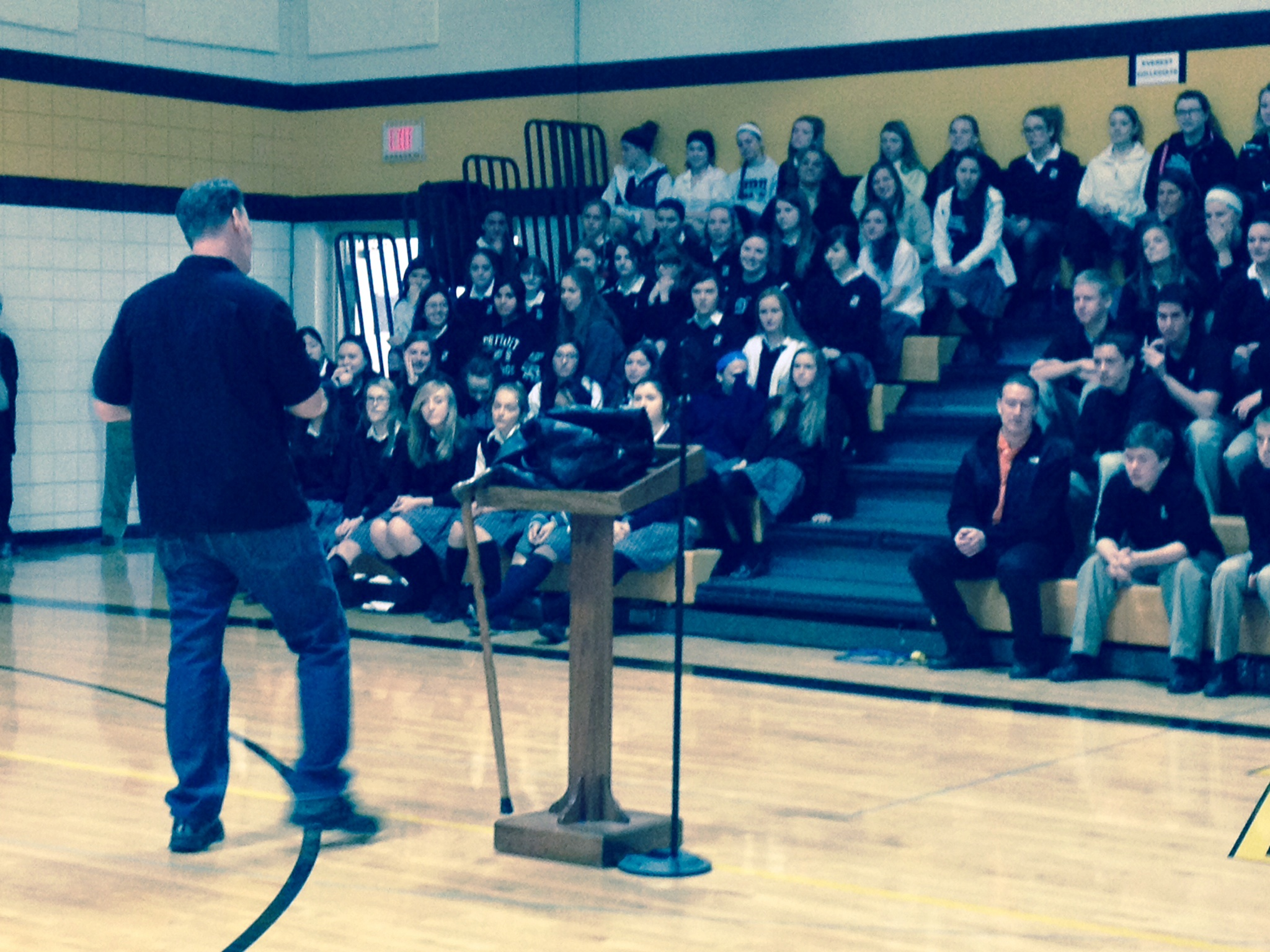 Jim Rockwell speaking at Everest Collegiate HS