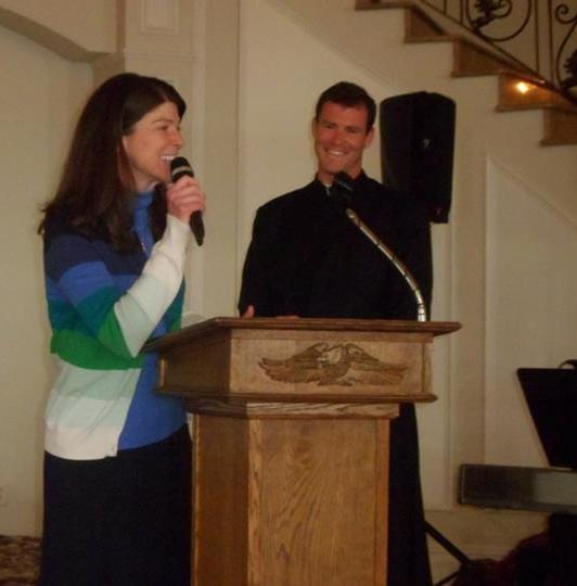 Kathleen Murphy and brother Fr. Thomas Murphy LC