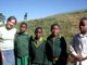Lauren Hawkesworth with schoolchildren in South Africa
