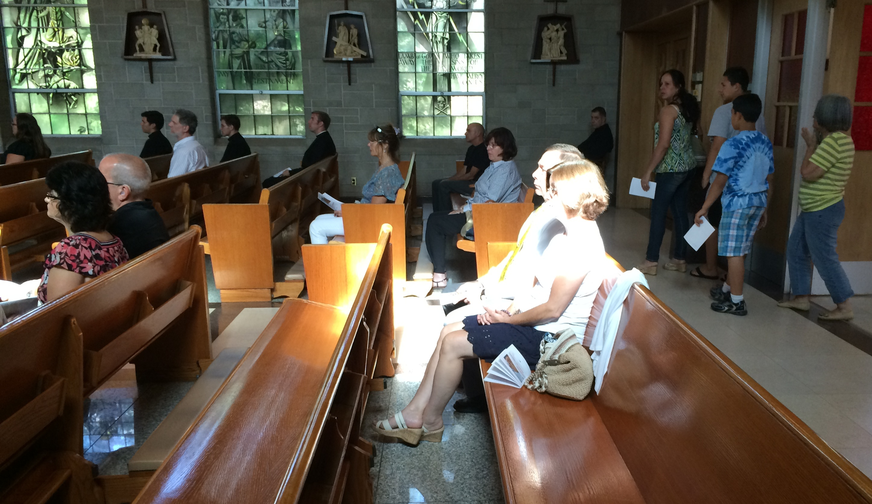 RC members and friends at prayer vigil.