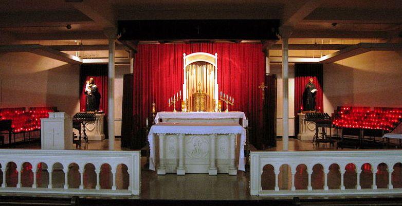 The OLC shrine lower altar