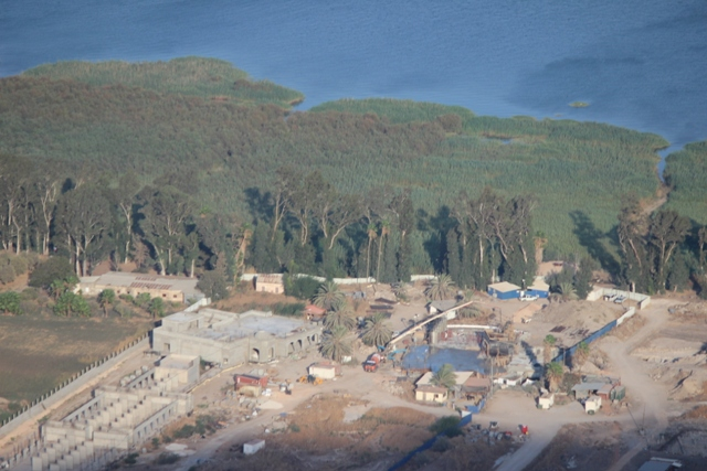 Magdala Site from above