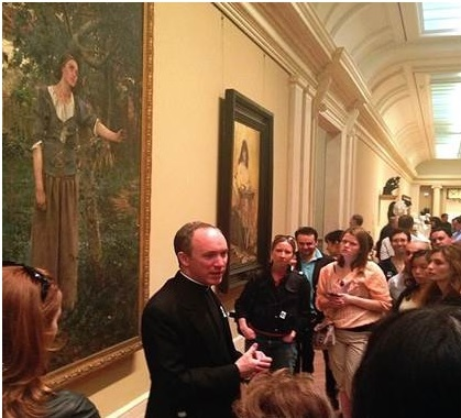 Fr. Jason Smith at the Metropolitan Museum