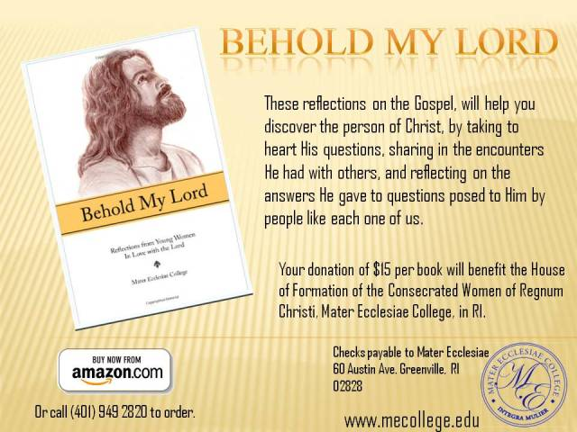 "Book flyer for ""Behold My Lord"""