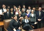Pictured (L-R) by Row: 1st Row:  Dawn Childress, J.D., Adisson  Maalouf 2nd Row:  Carrie Richardson, Esq. 3rd Row:  Jeffery John, Maria Andrade, Danielle Miller, Andy Rodriguez, Maddie Brabrook, Maggie Pfiel, Julianna Tollett  4th Row:  Charles Medlin, Es