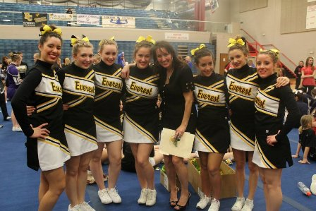 Nancy Burgess and her 2012 seniors