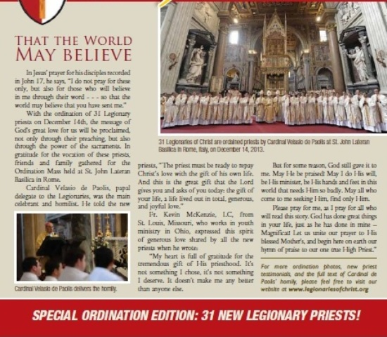JOY feature article on 2013 ordinations