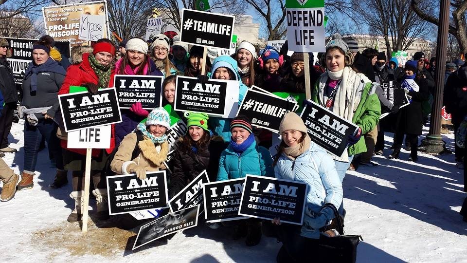 Immaculate Conception Program Students at March for Life.