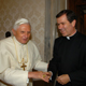 Pope Benedict XVI receives Fr Alvaro Corcuera, LC, in private audience on June 16, 2006 (&copy; L&#039;Osservatore Romano).