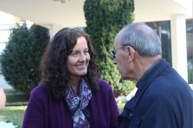 Denise Funke with Cardinal De Paolis