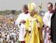 Pope Benedict at the WYD Mass on Sunday, August 21, 2011.
