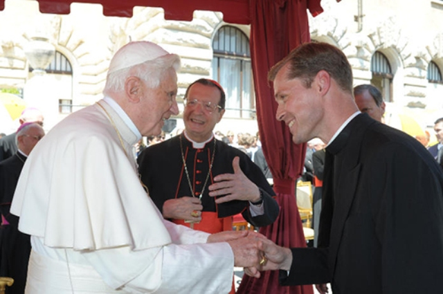 pope and fr mark haydu