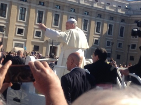 Seeing Pope Francis up close