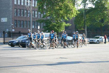 Biking for Babies cyclists