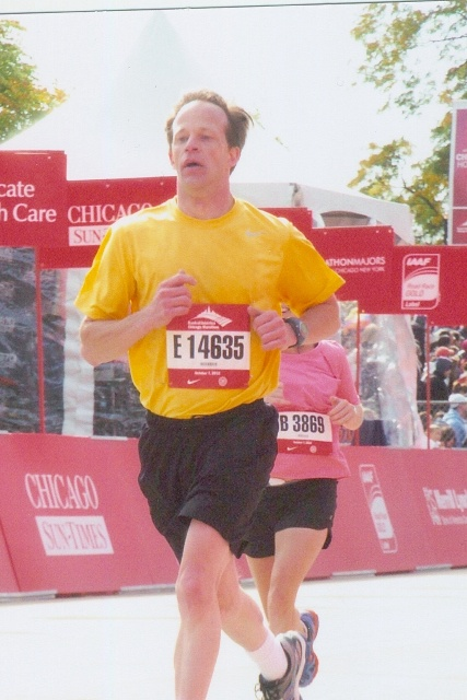 Fr. Daniel running in Chicago marathon