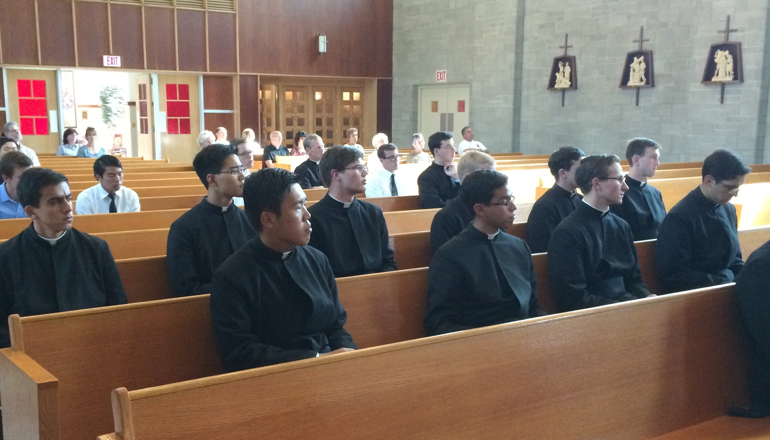 Seminarians from Cheshire in prayer