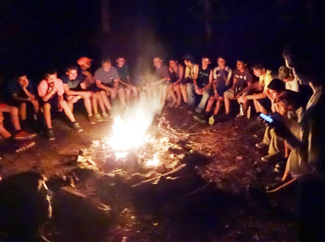 Around the campfire at Camp Texas