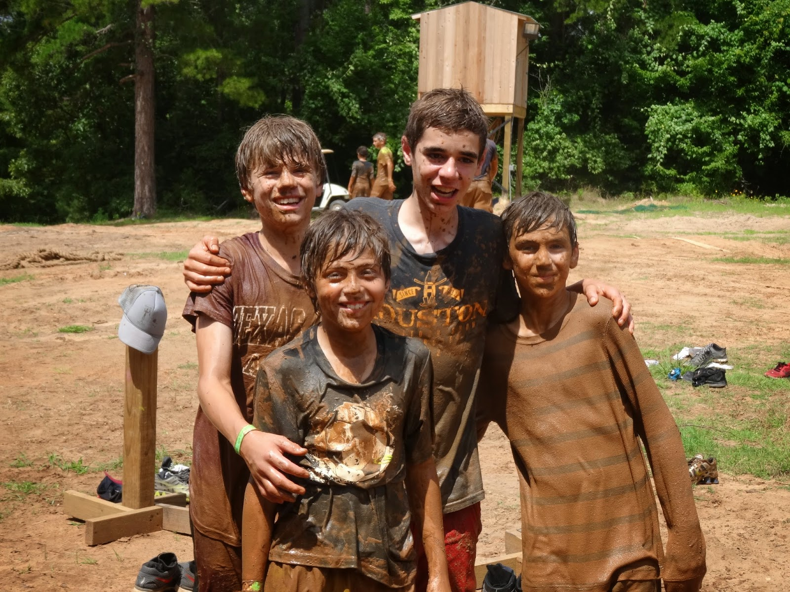 Enjoying the mud at Camp Texas