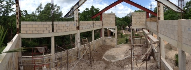 The church building project near Cancun