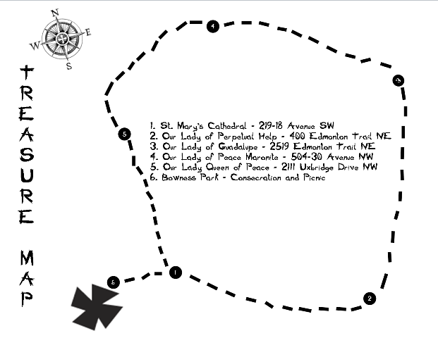 Marian Church Treasure Map